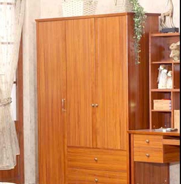 树之语水木年华系列-深色YG9831三门衣柜<br />YG9831