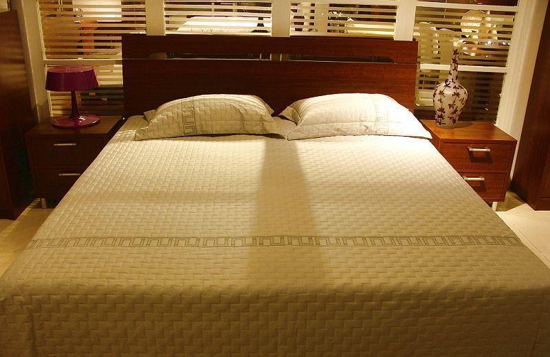 诺捷卧室家具床架6B001-B+6B101-B花梨木色6B001-B+6B101-B