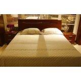 诺捷卧室家具床架6B001-B+6B101-B花梨木色