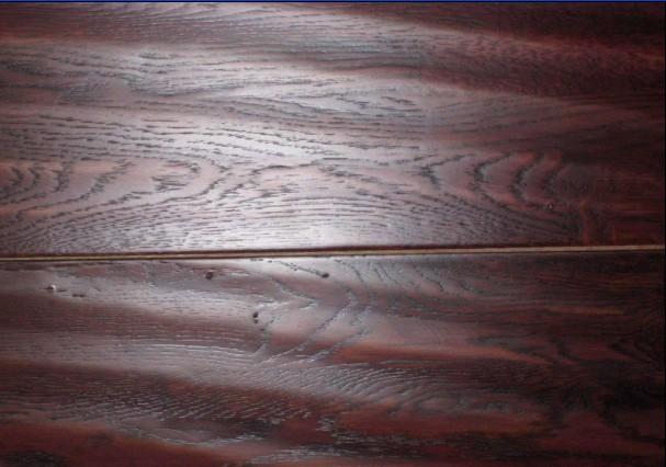 鑫海实木地板-圆盘豆红色
