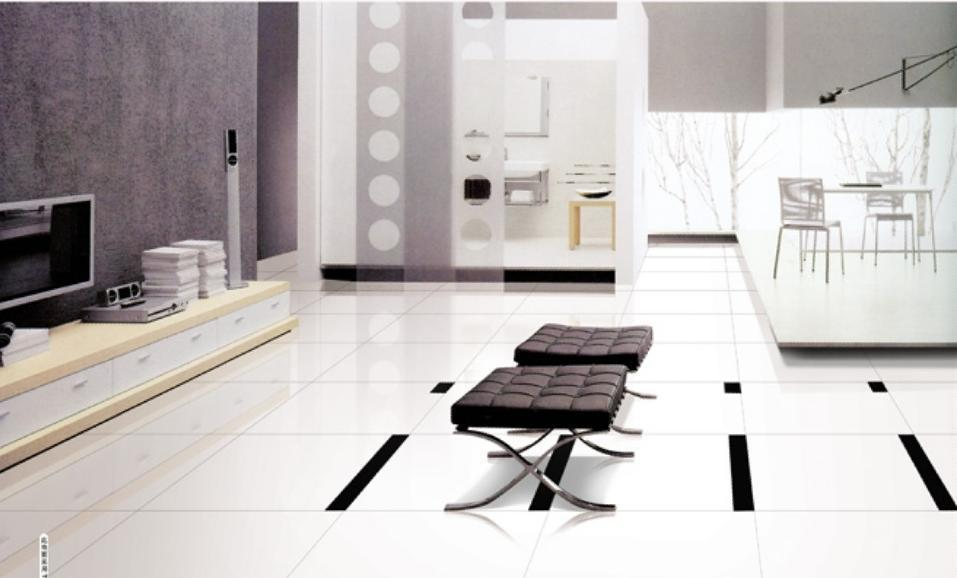 百特雪花白地砖冰清玉洁系列TPE6700(600*600)