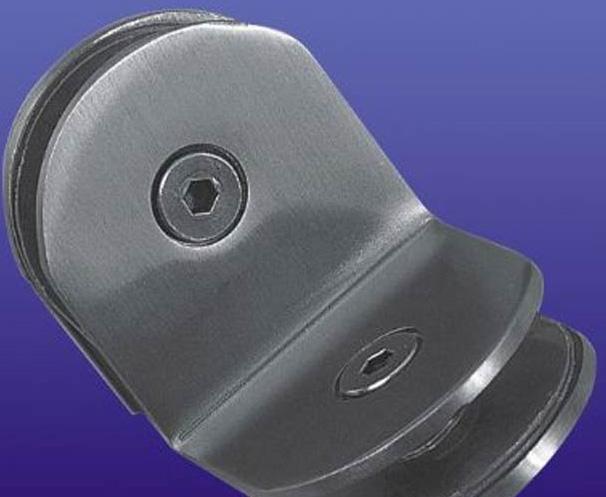 富力玻璃夹90度不锈钢半圆隔断码(双面)B014B014