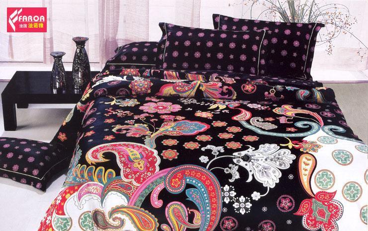 法诺雅大的床上用品四件套斜纹套件活性印花系列