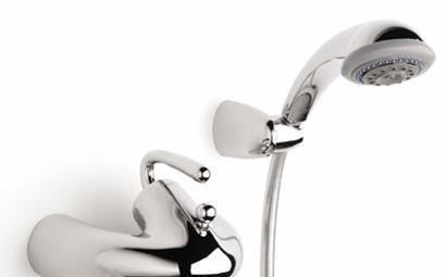 乐家卫浴银影系列挂墙式浴缸淋浴龙头5A015A0140C00