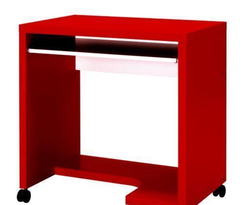 宜家附脚轮电脑桌麦克尔(红色/白色)麦克尔(红色/白色)