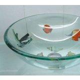 古亚双层玻璃盆S1228