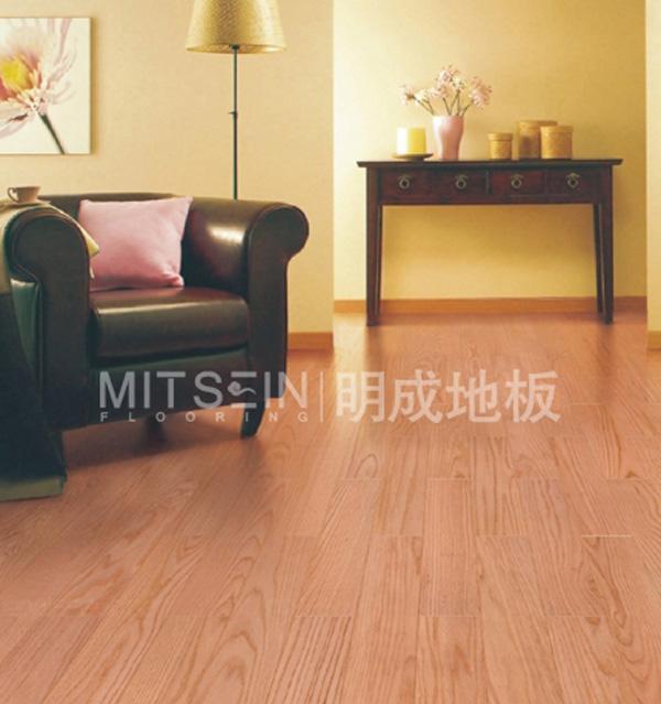 明成美国红栎实木地板(美国红橡)