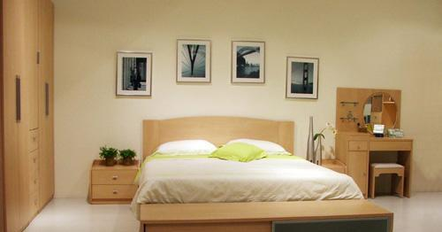 意风板式家具 - 双人床