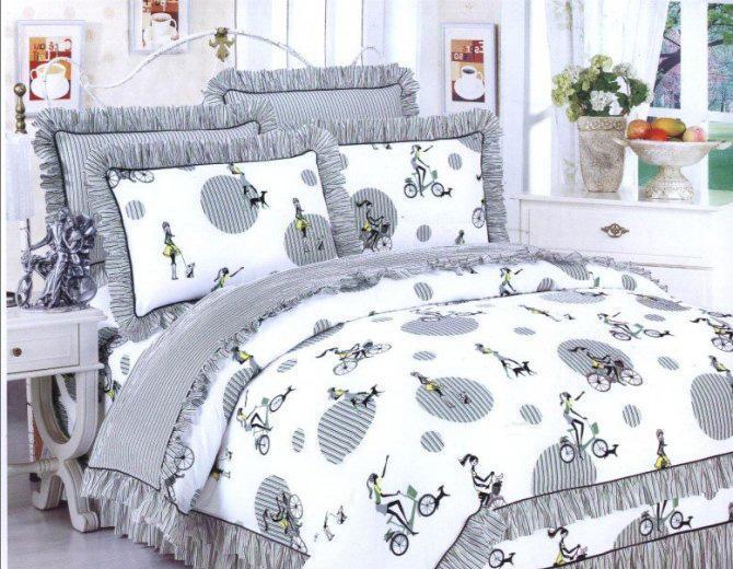 梦洁家纺全棉花边三件套(1.2和1.5床用)5号三件套
