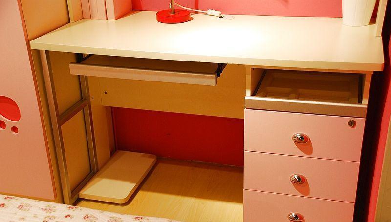 我爱我家儿童家具FG10-AA+G+W组合书桌(粉红色+FG10-AA+G+W
