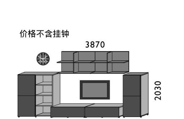 挪亚家厅柜组合D053BD053B