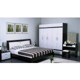 华源轩- 卧室家具-新黑橡系列-1.8米大床-R307AL