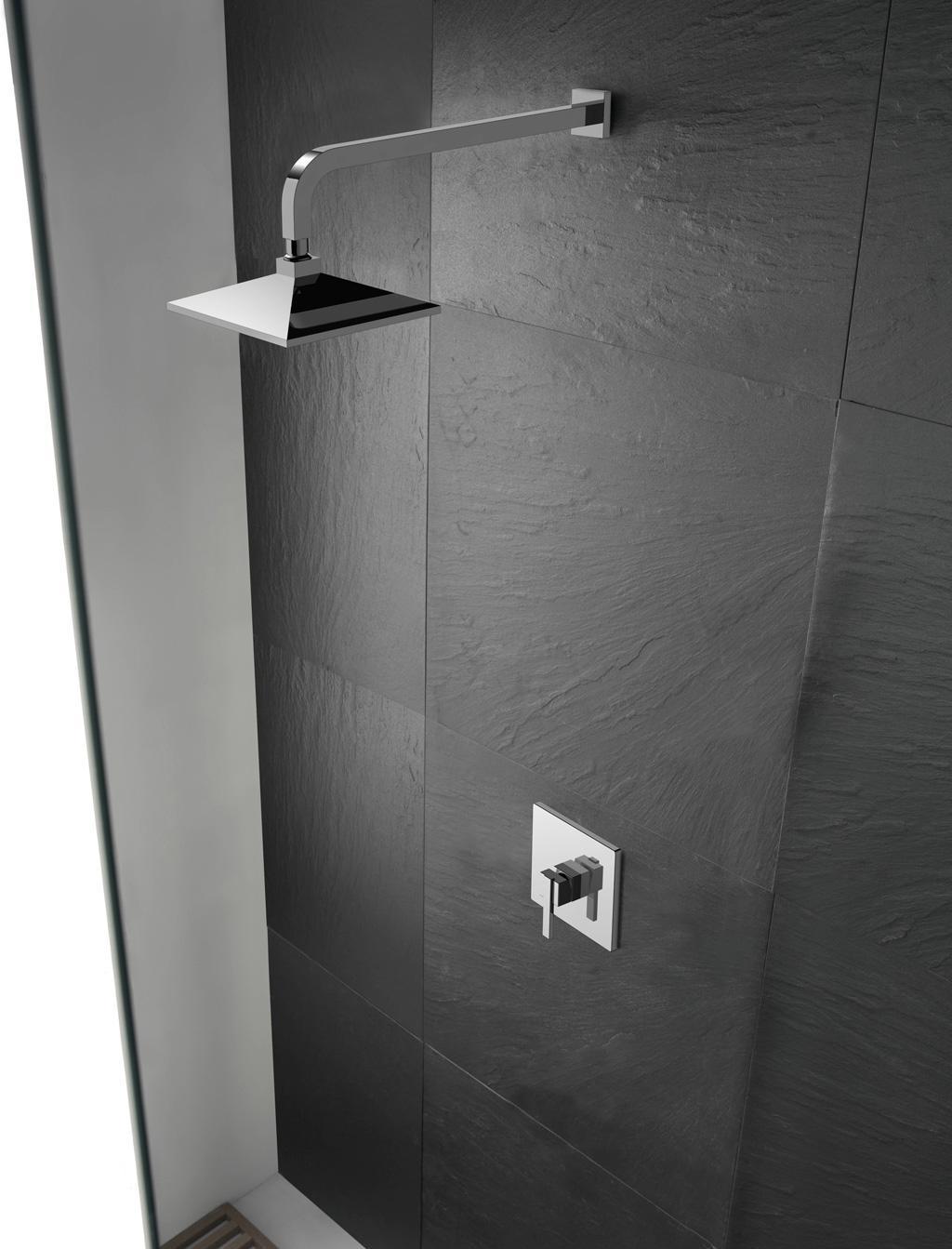德立暗装方形单功能淋浴花洒A061105
