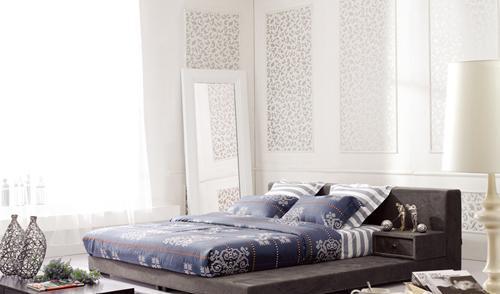 斯可馨FB8725软床床架带床头柜FB8725