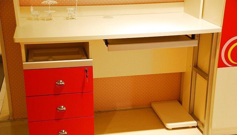 我爱我家儿童家具桌FG10-AA+G+W组合书(深红色+FG10-AA+G+W