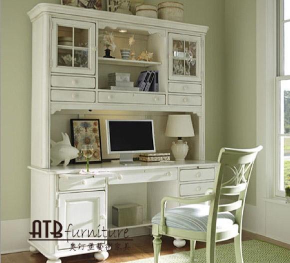 奥汀堡艺术家具克洛伊系列7218欧式家具白色书桌7218