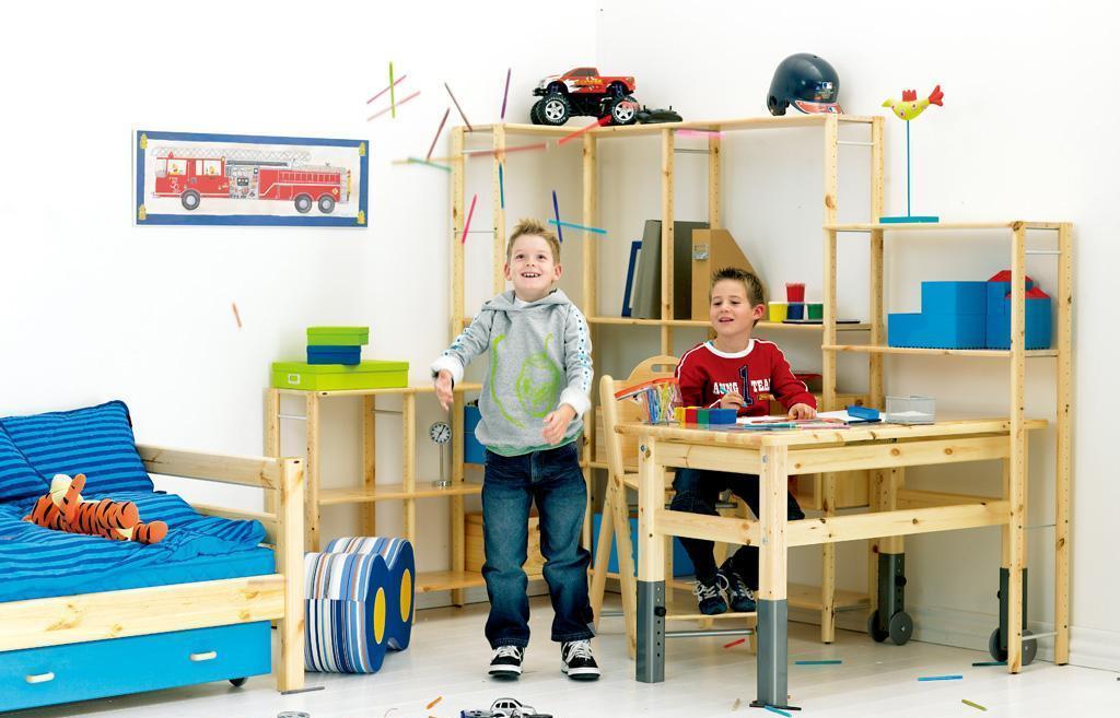 丹麦芙莱莎儿童家具书桌组合ADDIE(白色)ADDIE