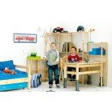 丹麦芙莱莎儿童家具书桌组合ADDIE(白色)