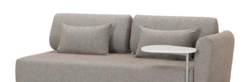 宜家带1个扶手米辛吉(莫勒伯 灰褐色)双人沙发