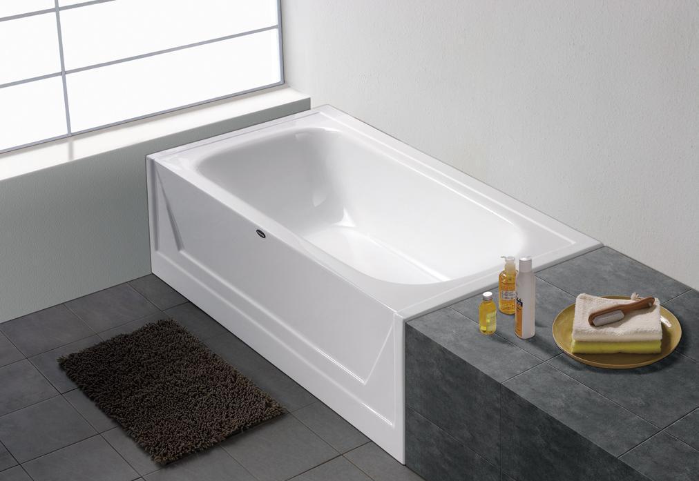 澳斯曼卫浴产品压克力固定左裙浴缸150-1(白)