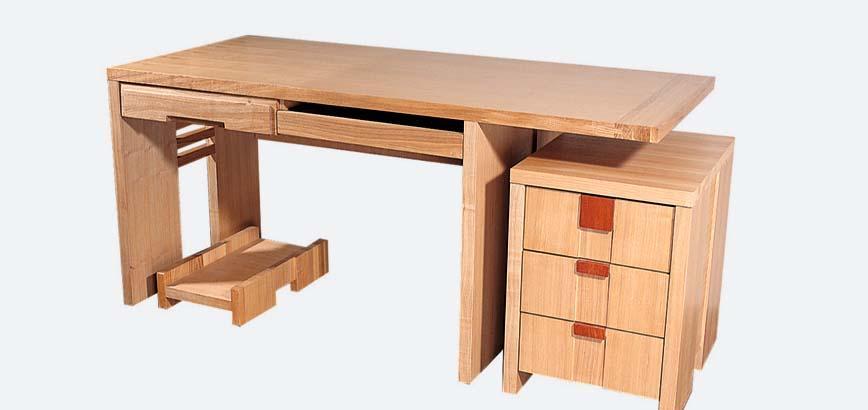树之语全实木水曲柳原木系列B-书桌1#B-书桌1#