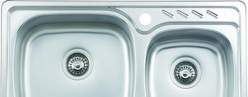 摩恩厨房水槽大小槽不锈钢厨盆2363323633
