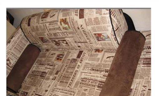 顾家工艺怀旧报纸系列限量版2008沙发<br />2008