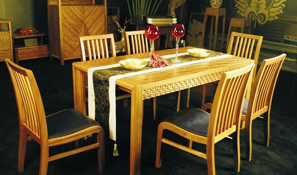华源轩- 餐厅家具-黄金柚系列-餐台-DC1801DC1801