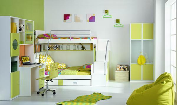 七彩人生整体卧室苹果绿组合一Q5-BH201Q5-BH201