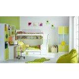 七彩人生整体卧室苹果绿组合一Q5-BH201