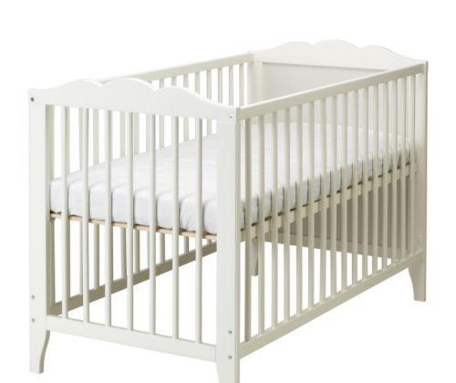 宜家白色婴儿床汉斯维克系列(123*66*85cm)
