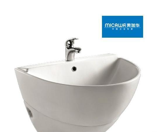 美加华M-3830/9830A挂柱盆(椭圆形设计)M-3830/9830A
