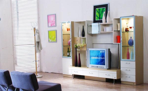 森盛家具客厅套装白榉系列21(组合柜)G005