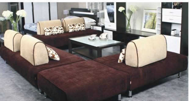 华源轩客厅四人位沙发黑橡配白系列SF8001-4SF8001-4