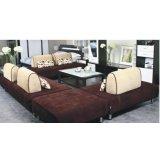 华源轩客厅四人位沙发黑橡配白系列SF8001-4