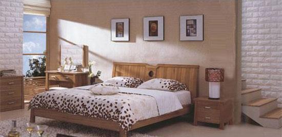 森盛家具卧房套装浅胡桃系列11(床)A7001