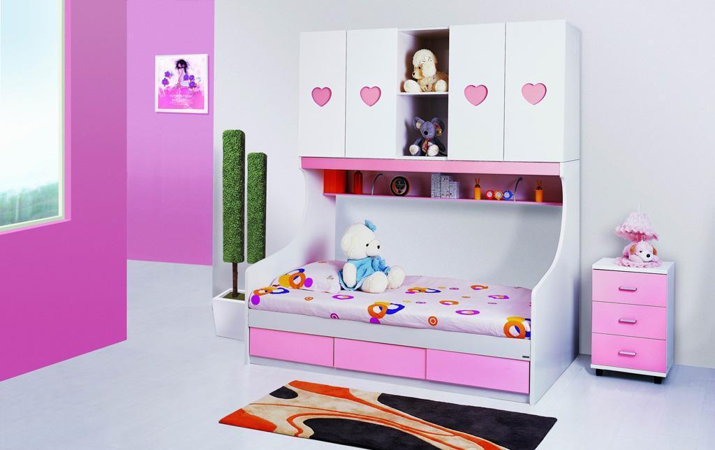 未来之窗HY-676母子床(粉红)