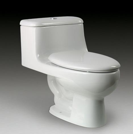 乐家卫浴波士顿加长型连体座厕(M-140 欧乐盖板)3-4845A..0