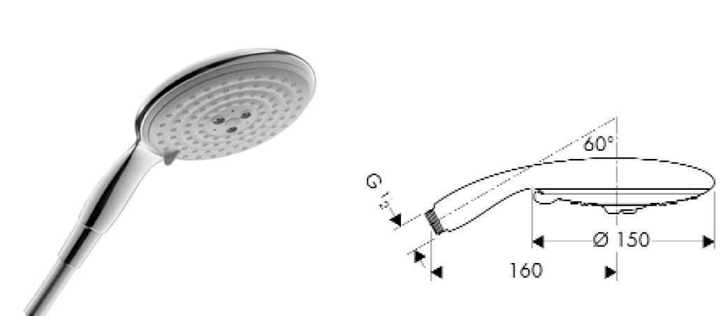 汉斯格雅5孔手持喷气花洒2850000028500000