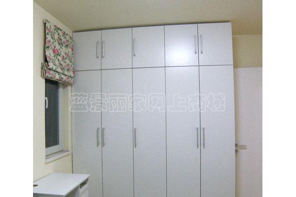 顶固白浮雕柜体及平开门整体壁柜配件