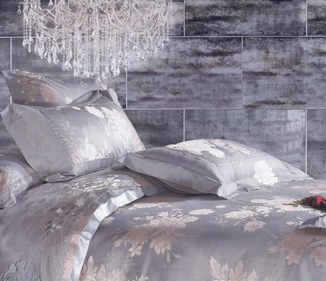 爱可爱登堡贵族金枝玉叶床上用品色丁提花全棉四