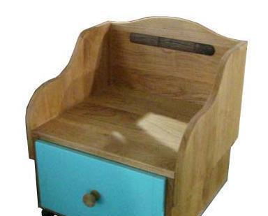 爱心城堡儿童家具床头柜JA18-BW1-BLJA18-BW1-BL