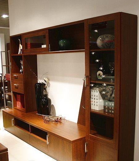 诺捷客厅家具电视柜客厅柜8F002花梨木色8F002