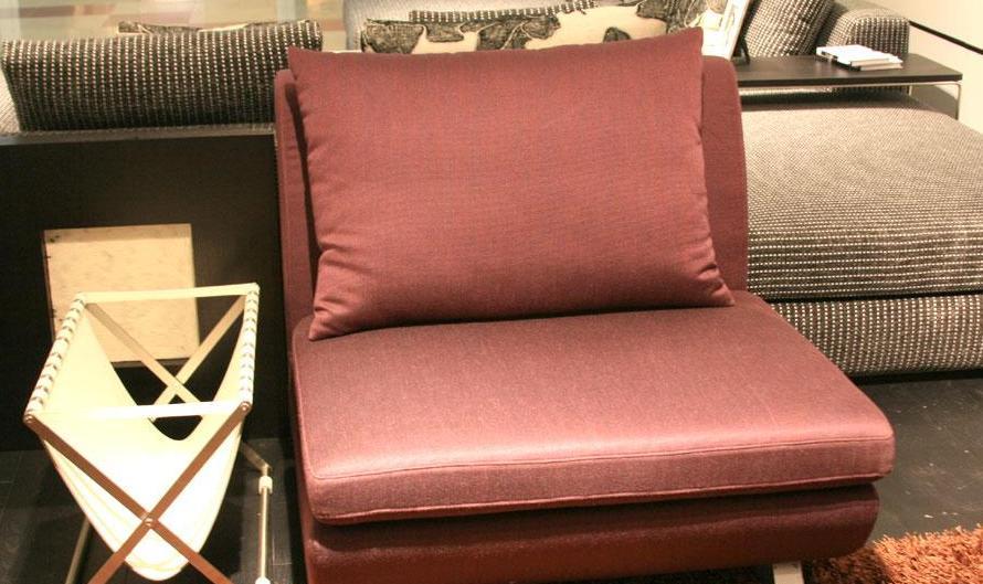 凯帝布艺无扶KD8061单人沙发