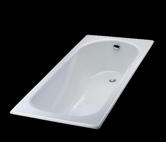 得而达白色铸铁浴缸奥典系列DT17051WHHDT17051WHH