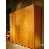 健威家具-加州缘系列-梨木大衣柜(两门)
