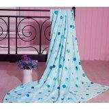 珑棉家纺印花珊瑚绒毯清爽蓝