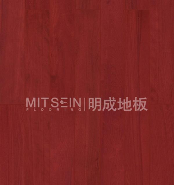 明成桦木(枫木)实木地板(红色亮光)桦木(枫木)