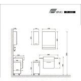 鹰卫浴实木浴室柜BF0020.10/LAF3230