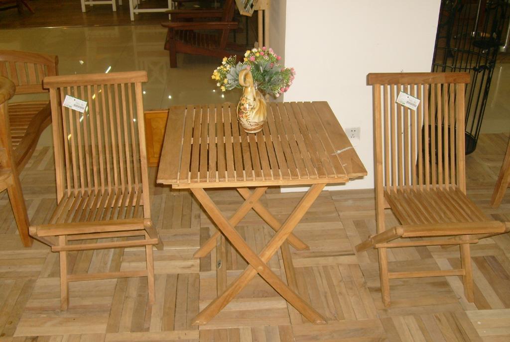 EcoG溢柯柚木折桌